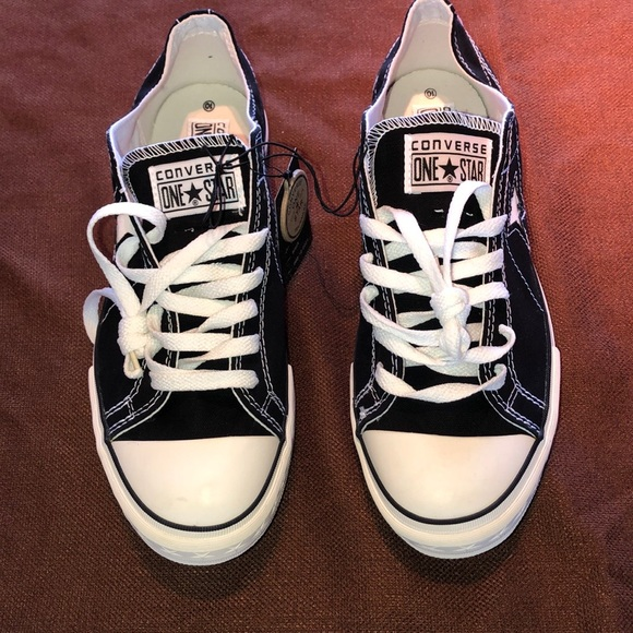 Men's Converse One Star Black & White Sneakers 10